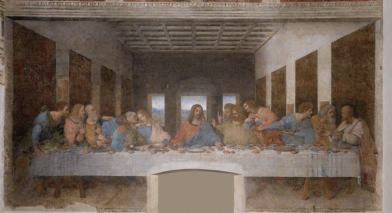 Ultima Cena di Leonardo Da Vinci (1495-1498), Santa Maria delle Grazie, Milano